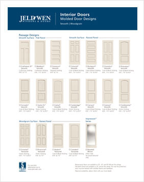 Jeldwen Molded Interior Door Designs